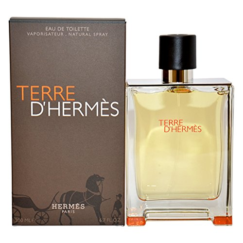 Hermes Mens Eau De Toilette (Terre D'Hermes by Hermes for Men - 6.7 oz EDT Spray)