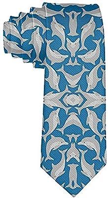 Corbata de hombre con delfines marinos azules Corbata de seda ...