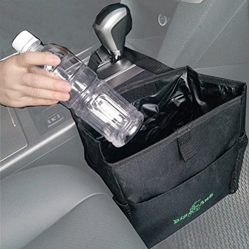 Big Ant Waterproof Car Trash Bag for Little Leak Proof – Car Garbage Bag with Side Pocket(Black)