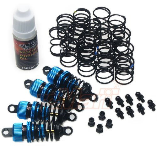 Yeah Racing Shock-Gear 50mm Damper Set for 1/10 RC Touring Car Blue (Racing Damper)