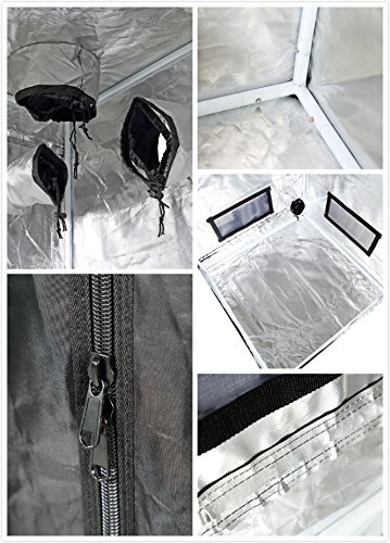 iPower GLTENTXS3 Mylar Hydroponic Grow Tent for Indoor Seedling Plant Growing w/Metal Push-Lock Corners, 32''x32''x63'', Water-Resistant. Removable Mylar Floor Tray Included by iPower (Image #5)
