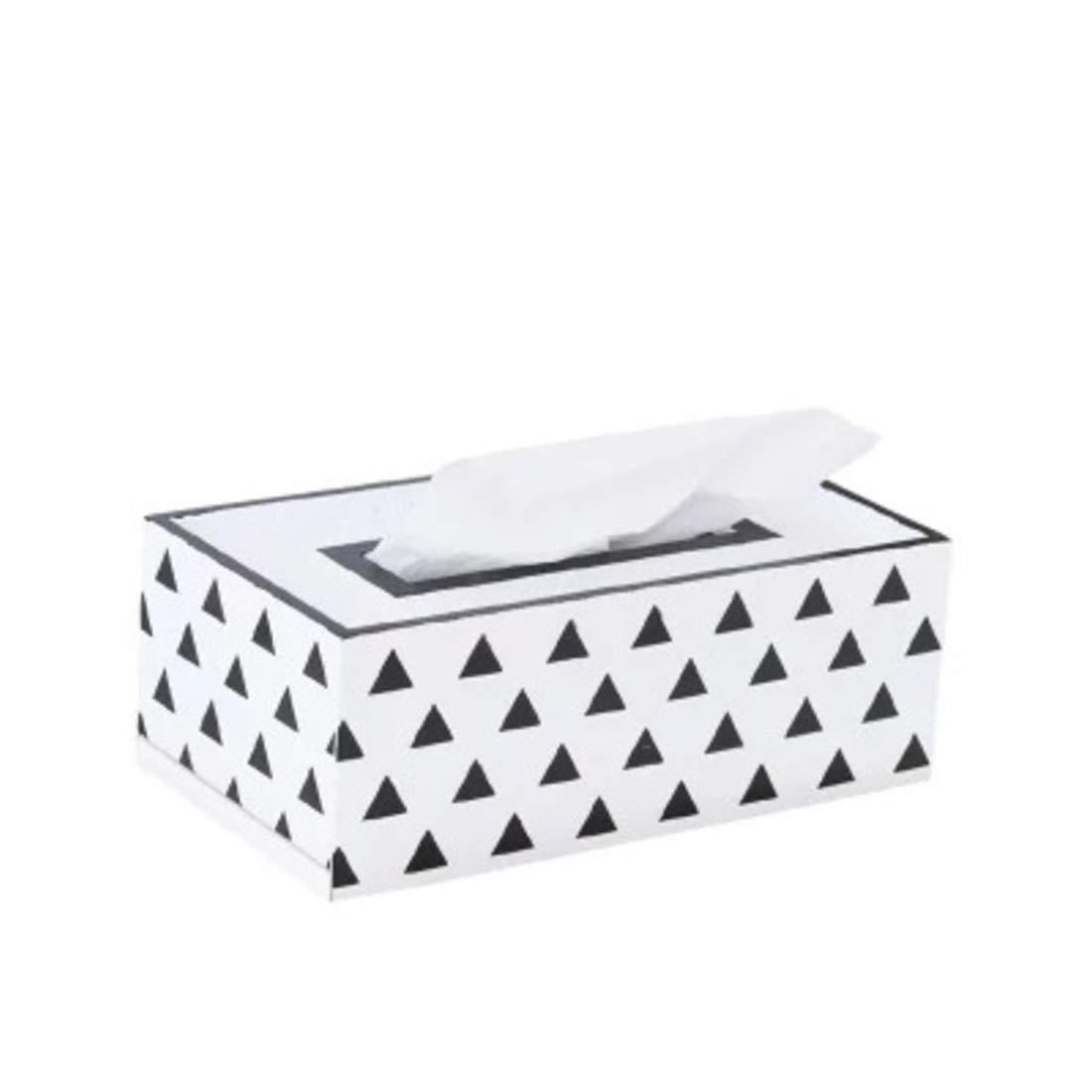 Mkulxina Nordische Holzhandwerk Wohnzimmer Esszimmer Dekoration Dekoration einfache Holz Holz Holz Tissue Box (Farbe   schwarz and Weiß Grid) B07PN22DCR Toilettenpapieraufbewahrung 8f9321