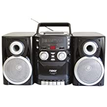 NAXA Electronics NPB-426 Portable CD Player with AM/FM Stereo Radio, Cassette Player/Recorder and Twin Detachable Speakers