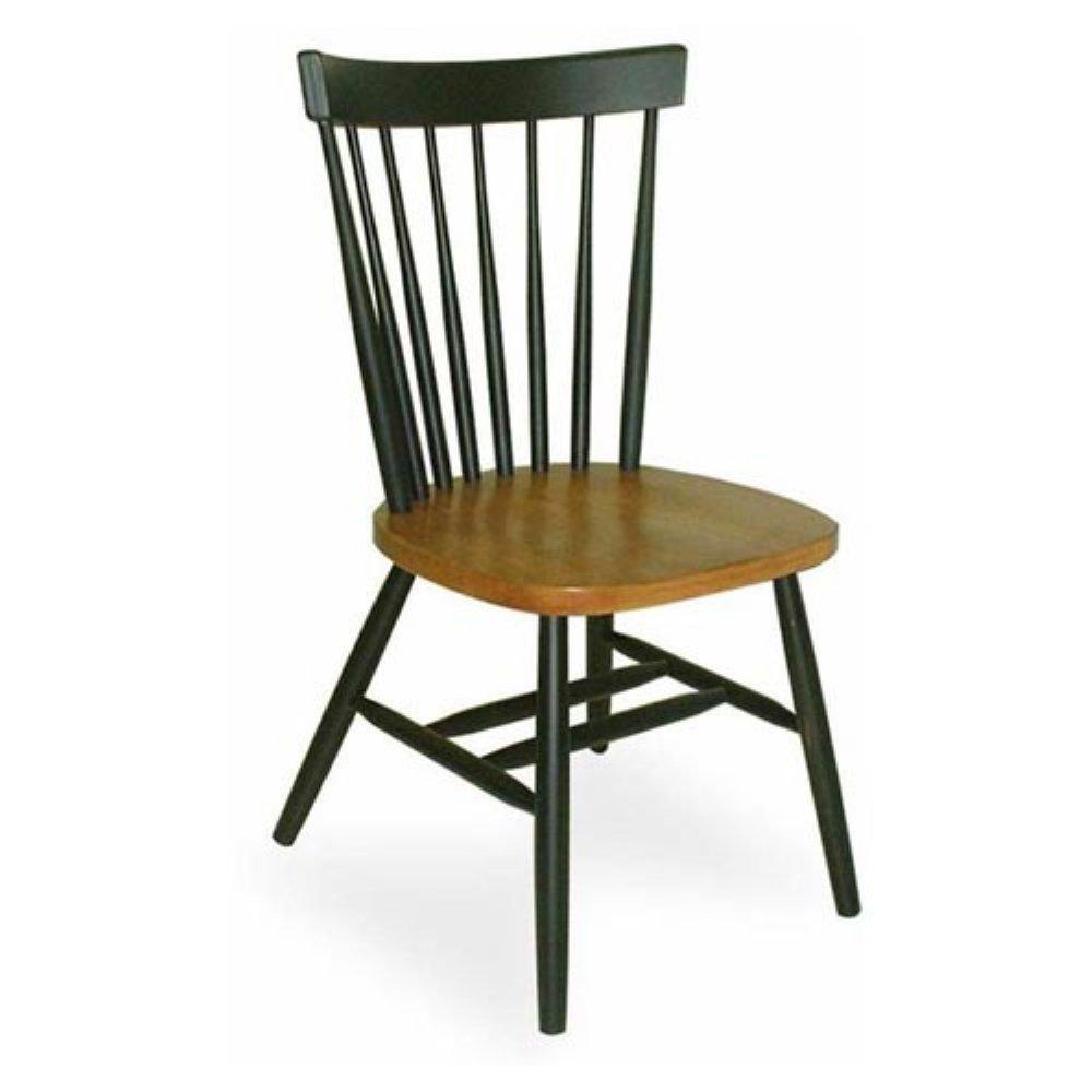 Captivating Amazon.com   International Concepts Copenhagen Chair With Plain Legs, Black    Chairs