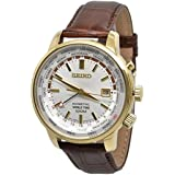 Seiko Kinetic World Time Leather SUN070P1