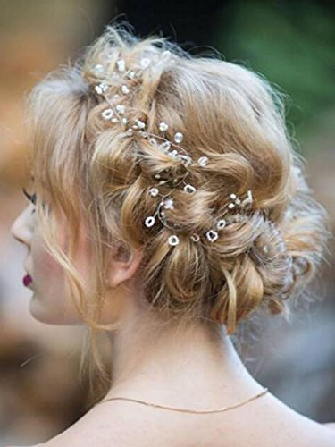 Missgrace Extra long hair vine Bridal hair vine Wedding hair accessorie