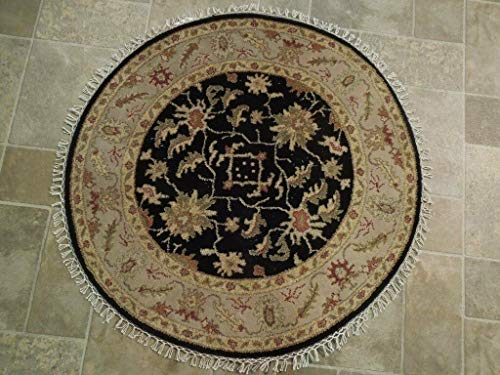 (Chobi Collection Rug Cheap Rugs Round Handmade 3' x 3' Vegetable Dyed)