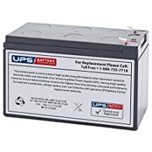 12V 7AH F2 Sealed Lead Acid (SLA) Replacement Battery for APC ES500 ES550 LS500 RBC110 RBC2