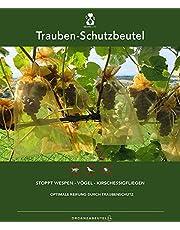 Druivenbeschermingszakjes, afmetingen: 23 x 15 cm, met trekkoord, ter bescherming tegen wespenvis, vogels, kersenazijnvlieg en andere insecten, organzazakje tegen wespenvraat