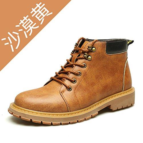 HL-PYL - - - Männer Martin Stiefel Freizeit Stiefel Zum alten Stiefel zurück zu den alten Verdickung Helfen warme Kleidung Schuhe 41 gelb 72a3b5