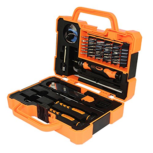 Jakemy 45 in 1 Magnetic Screwdriver Set for iPhone/ Cell Phone/ iPad/ Tablet/ PC/ Macbook/ Furniture Maintenance Repair Hand Tool Kits