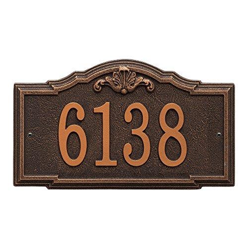 Whitehall Custom Gatewood Standard Wall Aluminum Address Plaque 14.25