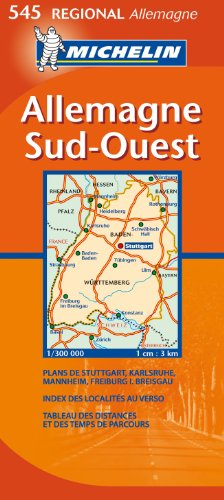 Allemagne Sud-Ouest : 1/300 000
