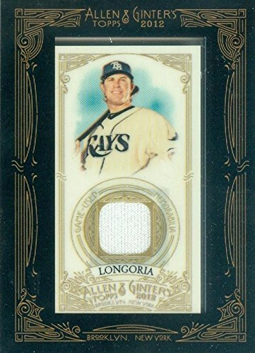Evan Longoria player worn jersey patch baseball card (Tampa Bay Rays) 2012 Topps Allen & Ginters #AGR-ELO