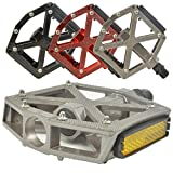 "Lumintrail PD-603B MTB BMX Road Mountain Bike Bicycle Platform Pedals Flat Alloy 9/16"" inch. Comes with our (Titanium)"