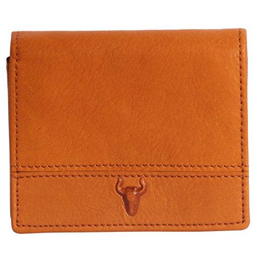 J Fold Bi Fold Wallet (H&J Mens Genuine Leather Wallet Hybrid Bifold ( 3 Size ) (Size M : 3.94.50.7 IN, Orange))