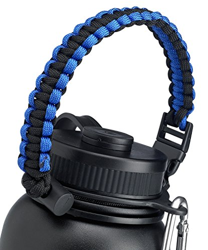 For Hydro Flask Wide Mouth 20oz 24oz 28oz 32oz & 40oz Water Bottle Carrier- America's #1 Handle Attaches to Almost Anything When You're On-the-Go, Never Drop Your Bottles- A PRIME Best Gift Ideas!
