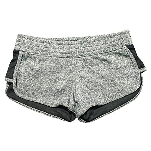 LETSQK Women's Sexy Yoga Booty Pilates Terry Running Sports Shorts Heathergrey M (Booty Shorts Sexy)