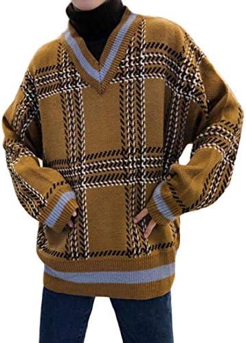 (ジュージェン)セーター メンズ タートルネック ゆったり プルオーバー 厚手 フェイクレイヤード ニットセーター長袖 チェック柄 おしゃれ カットソー カジュアル トップス 秋 冬
