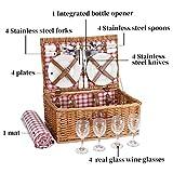 G GOOD GAIN Picnic Basket Set | 4 Person Picnic