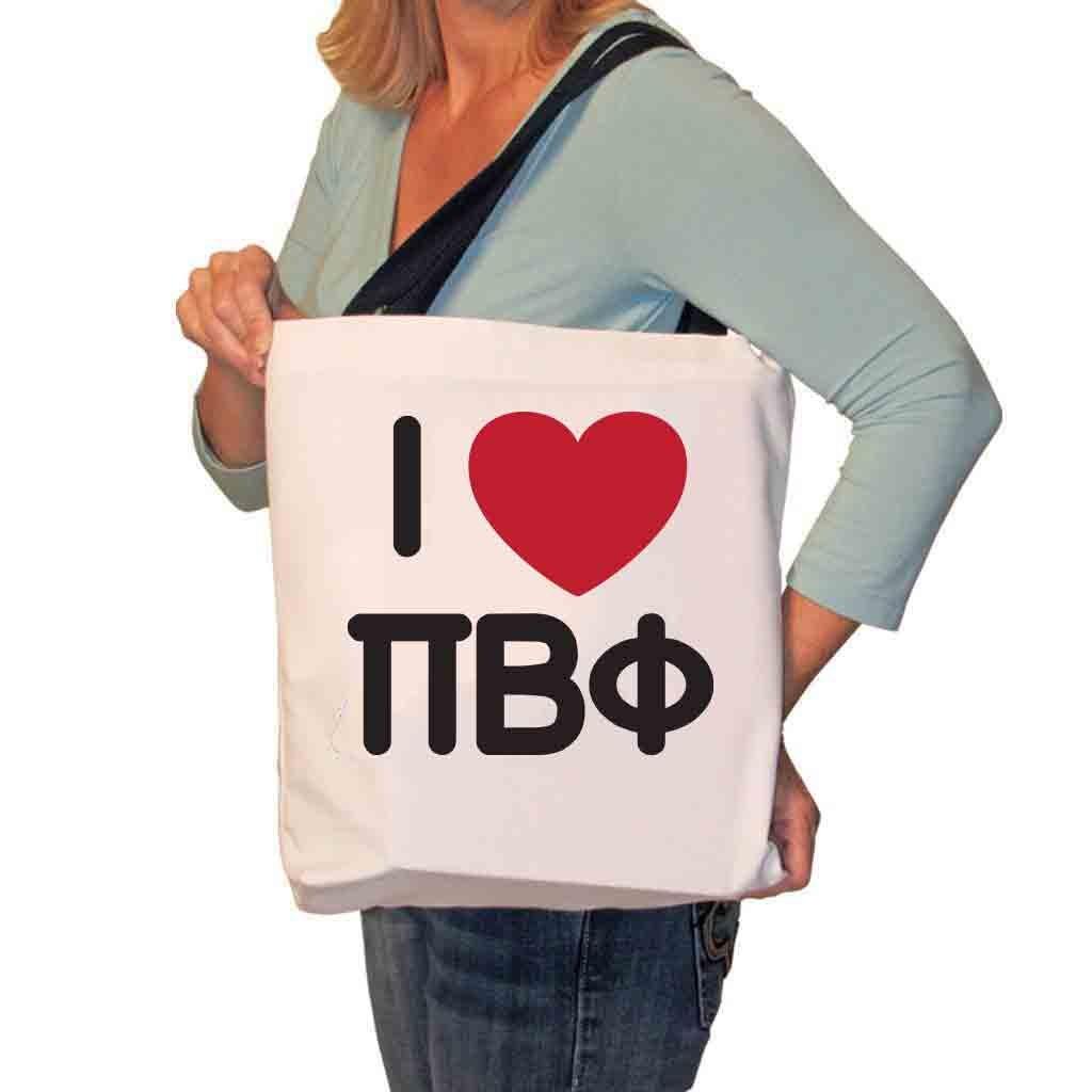 正規激安 I Love Love I Pi Beta Phiキャンバストートバッグ Beta B01NCSWUG6, レオックフーズ:b882ca53 --- ciadaterra.com