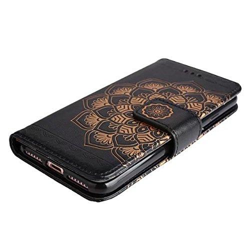Hülle für iPhone 7 ,Schutzhülle Für IPhone 7, helles nettes Blumenblumen prägeartiges Muster-horizontale Folio-Schlag-Standplatz-Fall, Mappen-Beutel-Kasten ,cover für apple iPhone 7,case for iphone 7