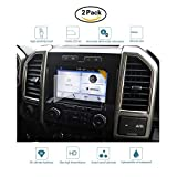 #7: SEAKCOIK Clear HD Tempered Glass Screen Protector for 2017 2018 Ford F-150 8 Inch Car Navigation Screen Protector Center Touch Screen Protector Anti Scratch High Clarity - 2 Pack