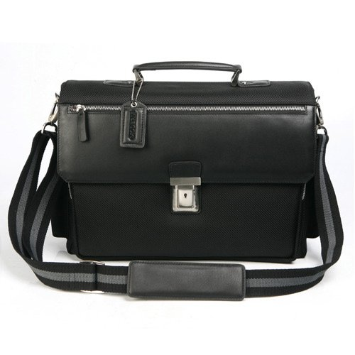 MODERM Nylon and Leather Computer Business Brief Bag, Bags Central