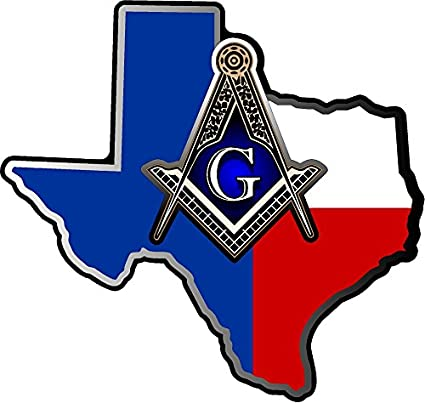 ProSticker 125V (One) Masonic Series Texas Freemason Compass Lodge Decal  Sticker (4