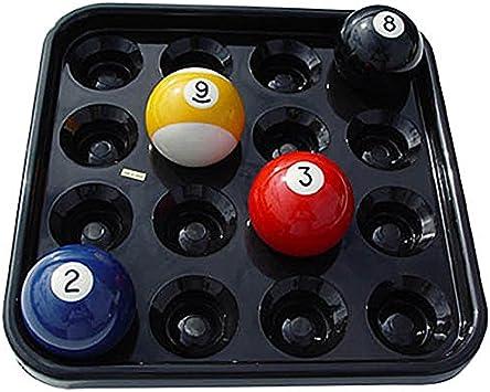 Black Plastic Pool Ball Carrying Tray for Full Set Regulation Size Billiard Ball