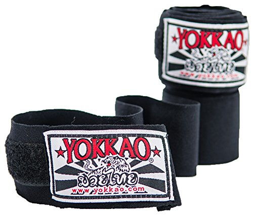 YOKKAO Handwraps for Muay Thai & Boxing - Black, Red, Blue, Pink, Thai Flag, Neon Green, Neon Orange, Neon Yellow - - Thai Wraps Muay