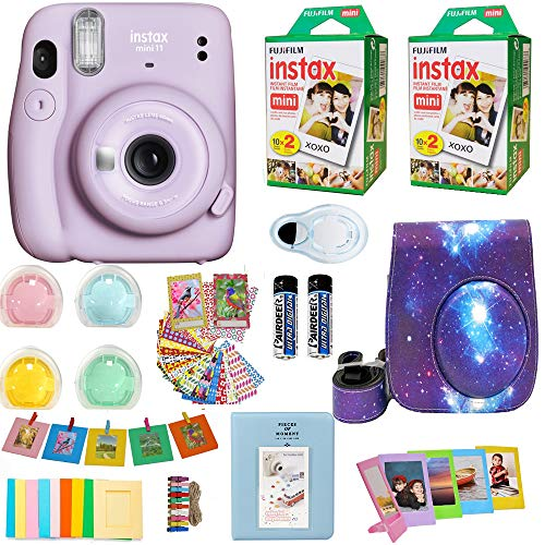 Fujifilm Instax Mini 11 Camera + Fuji Instant Instax Film (40 Sheets) Includes Galaxy Camera Case + Frames, Photo Album…