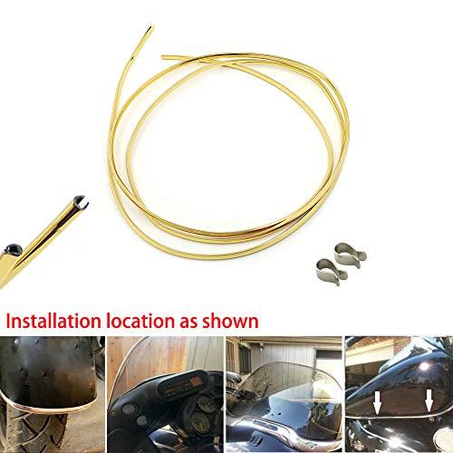 Gas Tank Trim - 10 ft (3M) Edge Trim Protection strip Kit - Motorcycle Gas Tank/Fenders/Windshield Edge Trim Kit,Gold