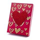 Hallmark Gift Card Holder Box (Gold Hearts on Red)