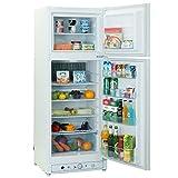 Appliances : SMETA 110V Electric/Gas Refrigerator Home Upright Propane Absorption Fridge Freezer,9.3 cu ft