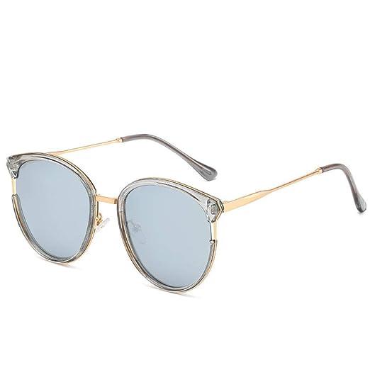 Yangjing-hl Gafas de Sol Redondas polarizadas Bicolor Gafas ...