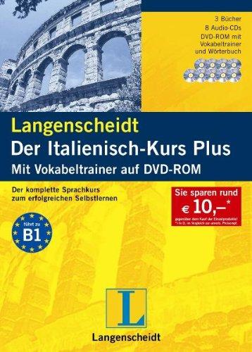 Langenscheidt Der Italienisch Kurs Plus   Set Mit 3 Büchern 8 Audio CDs Und DVD ROM