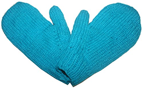 618 MT Warm Cozy Fleece Lined Ski Knitted Mitten (Turquoise ()
