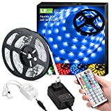 LE LED Strip Lights Kit, 32.8ft Dimmable RGB LED Light Strips, Color Changing Light Strip with Remote Control, 12V Power Supply for Kitchen, Bedroom and More, Non-Waterproof (16.4ft*2)