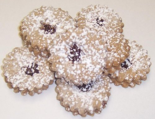 Scott's Cakes Linzer Cookies in a 1 Pound Plastic Deli Container (Butter Boxed Cookies)