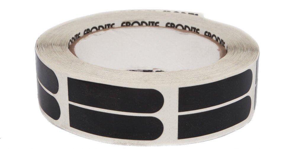 Ebonite Ultra Grip Bowlers Tape (500 Piece Roll), Black, 1/2-Inch