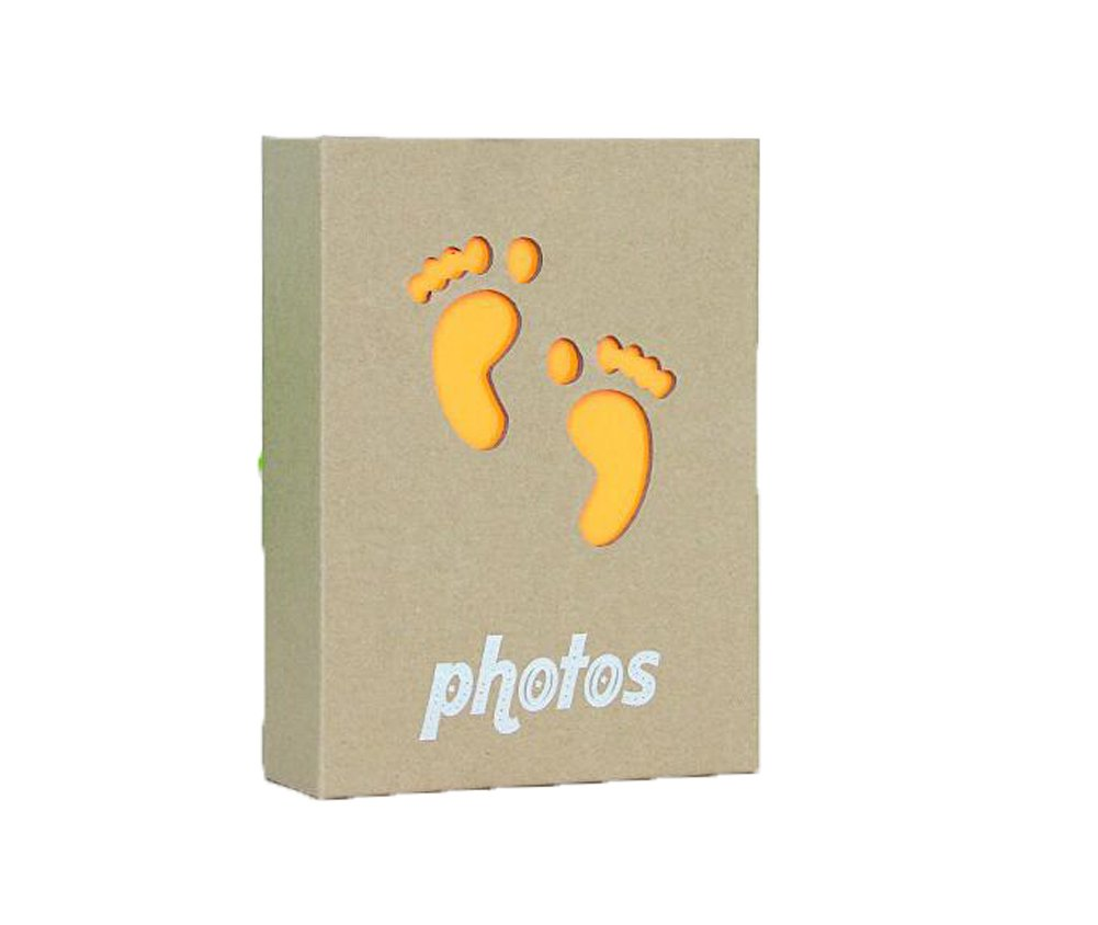 Yellow luzen 6 Inch 50 Sheet//100 Page Kraft Paper Cover Interstitial Photo Album