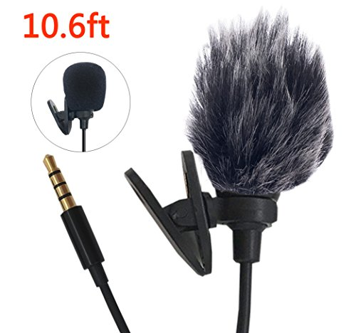 Cheap Studio Recording Equipment Professional Lavalier Lapel Microphone Windshield Mic for Apple iPhone Smartphones, Recorder,Camcorders,Android,PC,DSLR, Recording..