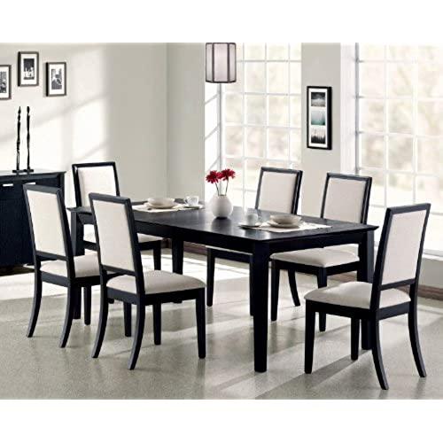 Merveilleux Coaster Lexton 7 Piece Rectangular Dining Set, Black