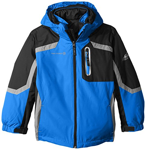 Free Country Little Boys' Systems Coat with Puffer Jacket, Electric Blue, Large/7