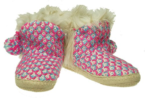 Jenni Critter Fuschia Grey Womens Slippers Knits wAORqr0w