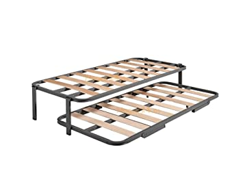 HOGAR24 ES Cama Nido con 2 Somieres Estructura Reforzada Doble, Acero, 90x180 cm: Amazon.es: Hogar