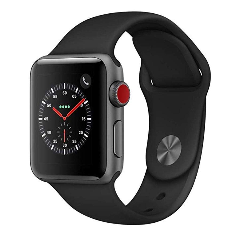 Amazon.com: Apple Smart Watch 38mm Watch Series 3 - GPS - Space Gray Aluminum Case with Black Sport Band (OLD MODEL): Cell Phones & Accessories