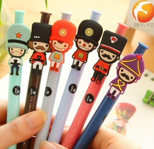 6pcs/Lot New Cute Cartoon Ball Point Pen Ballpoint Creative Stationery Student