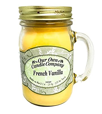Our Own Candle Company French Vanilla Scented 13 Ounce Mason Jar Candle By